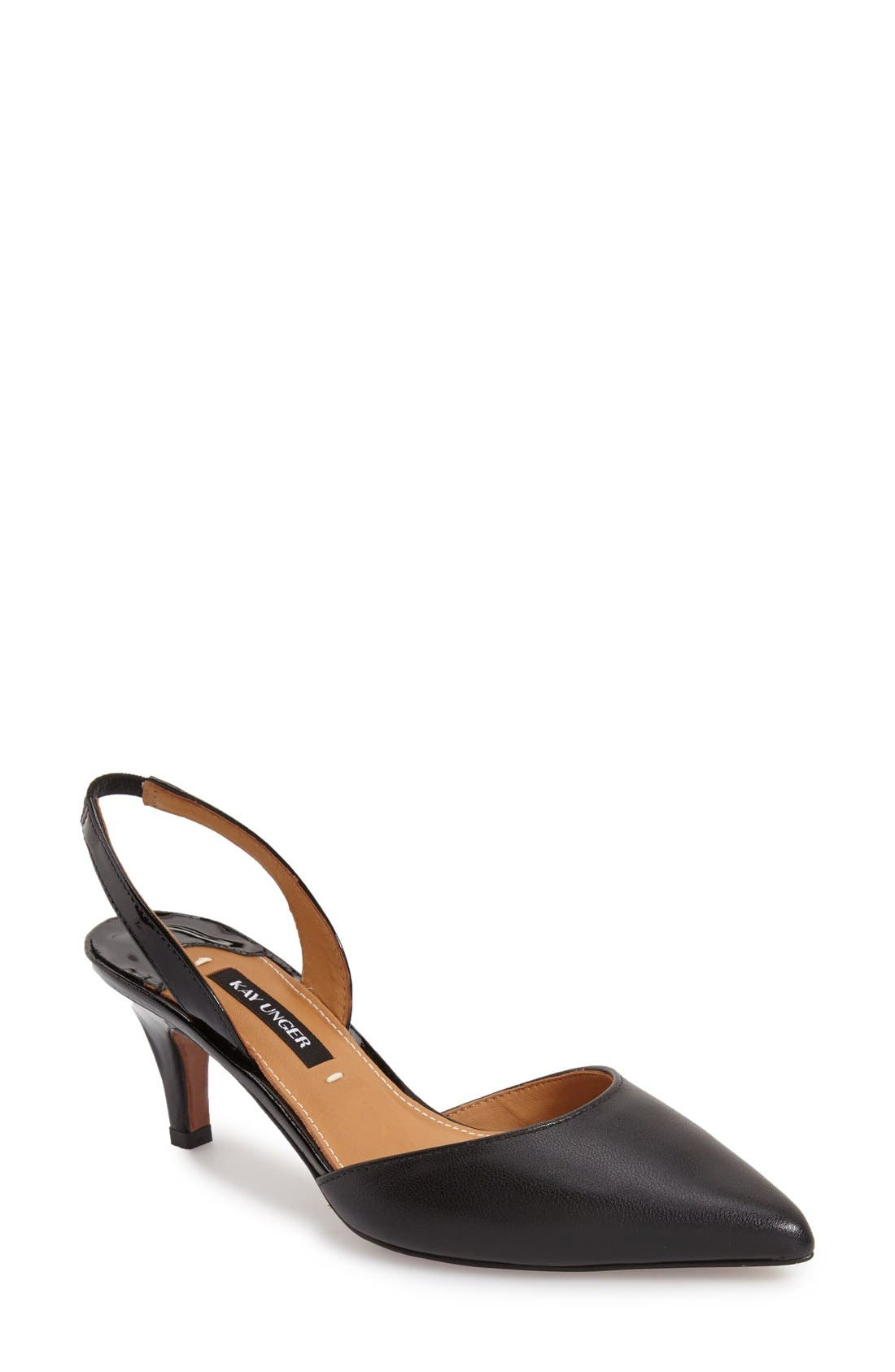 Alternate Image 1 Selected - Kay Unger 'Baylee' Slingback Pointy Toe Pump (Women)