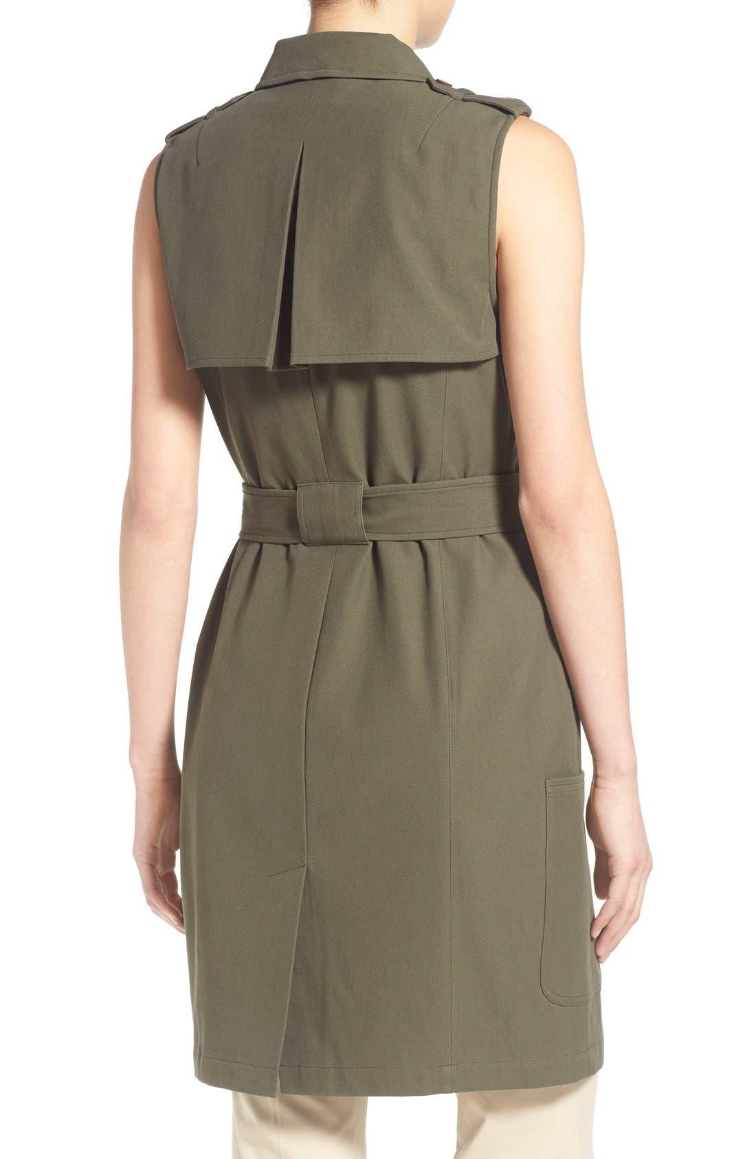 Alternate Image 3  - Olivia Palermo + Chelsea28 Long Military Vest