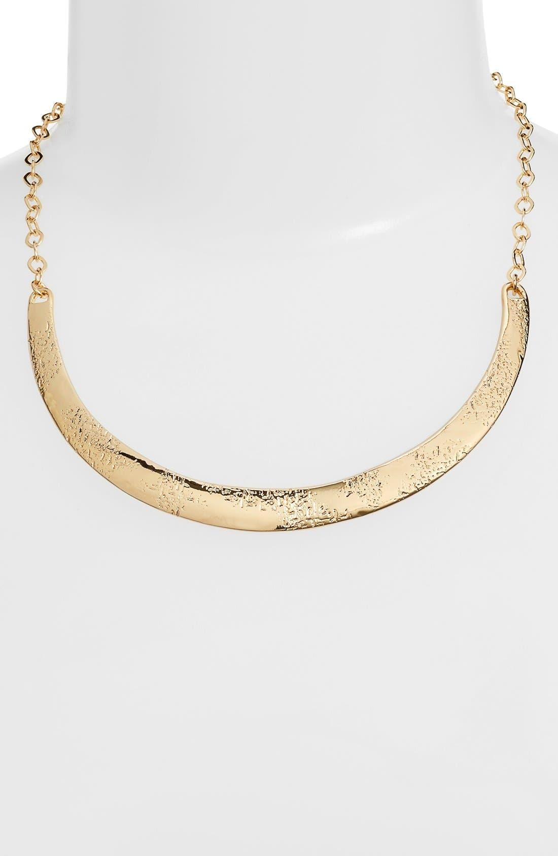 Alternate Image 2  - Nordstrom Curve Bar Collar Necklace