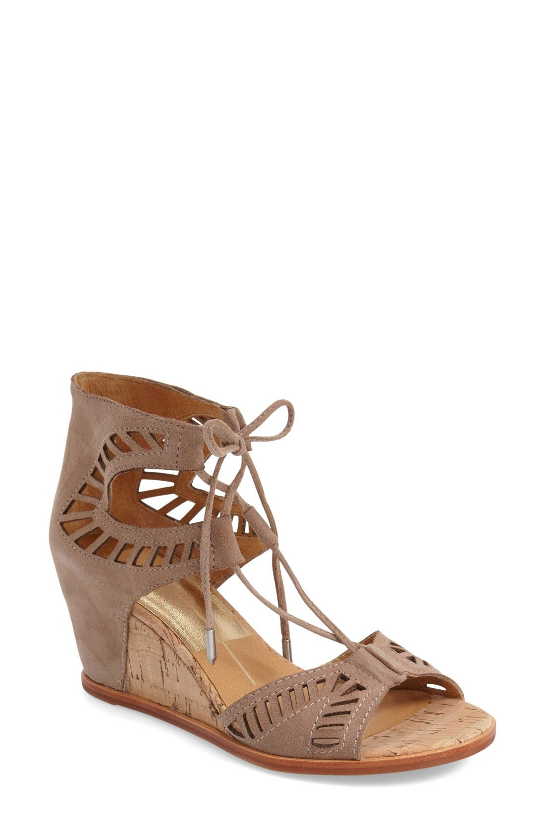 Alternate Image 1 Selected - Dolce Vita 'Linsey' Lace-Up Wedge Sandal (Women)