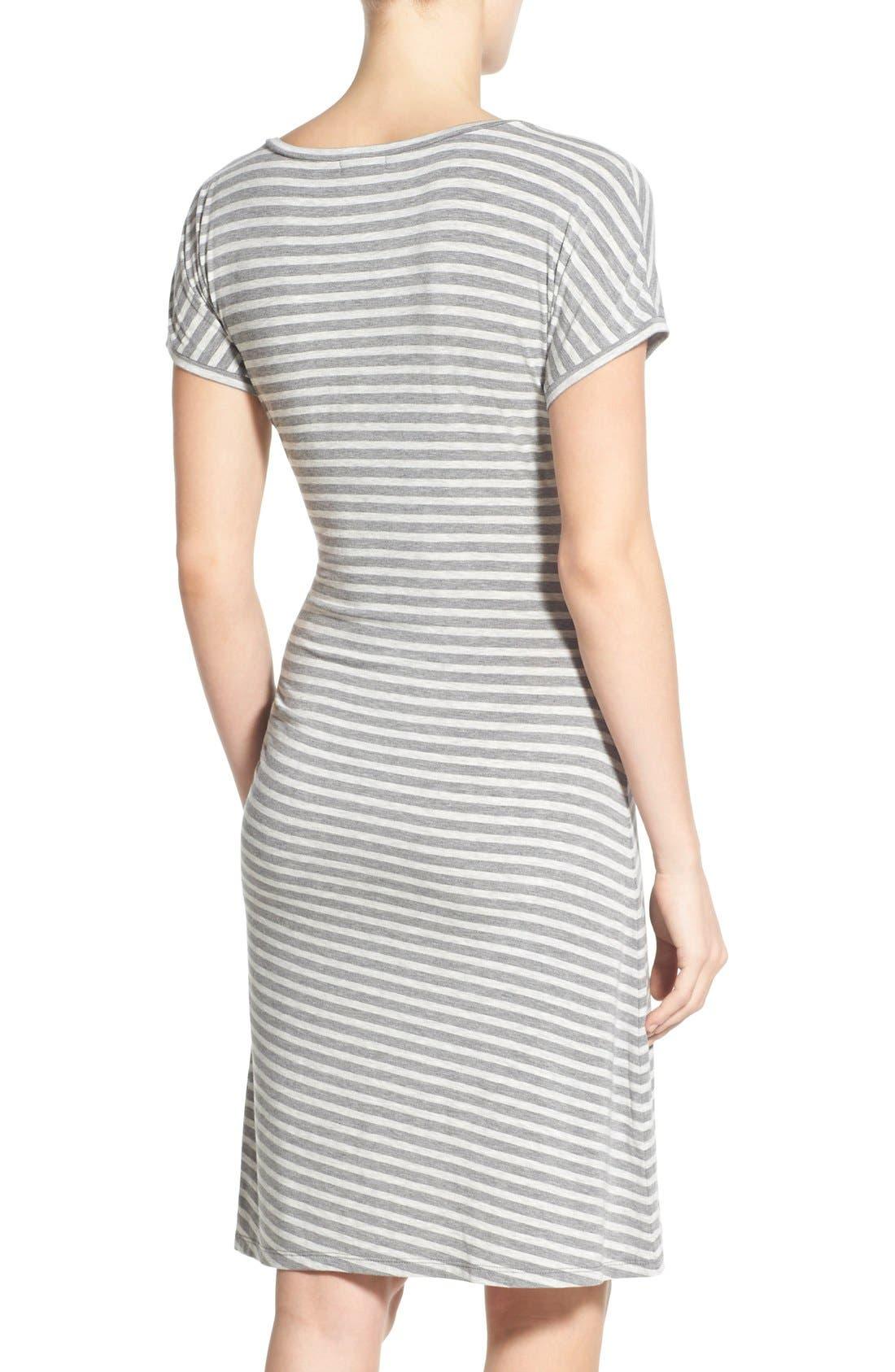 Alternate Image 2  - Caslon® 'Growover' Jersey T-Shirt Dress
