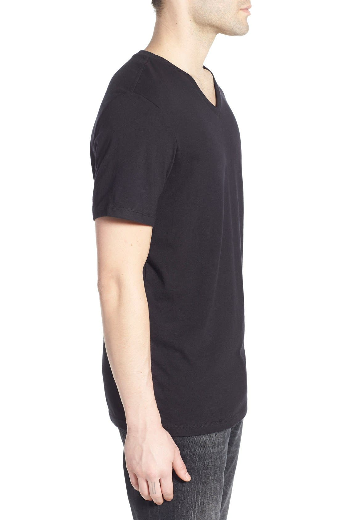 Alternate Image 3  - The Rail Slim Fit V-Neck T-Shirt