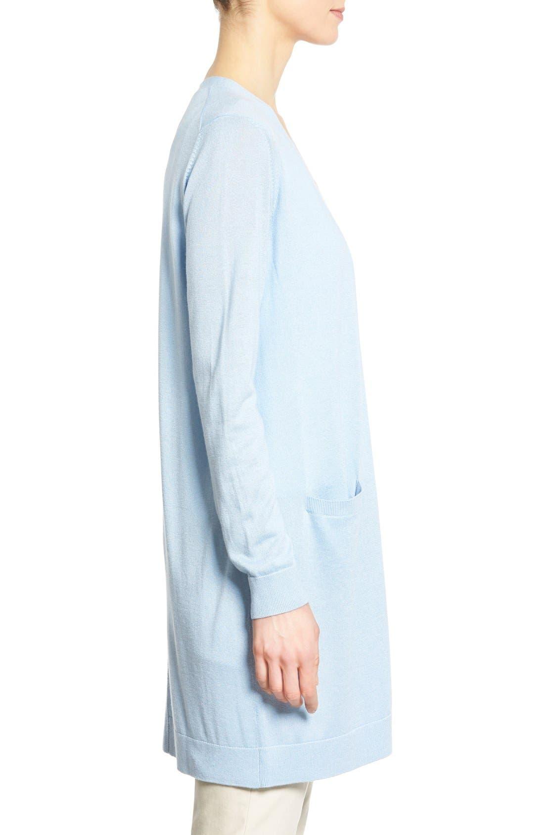 Alternate Image 3  - Nordstrom Collection Silk & Cashmere Long V-Neck Cardigan