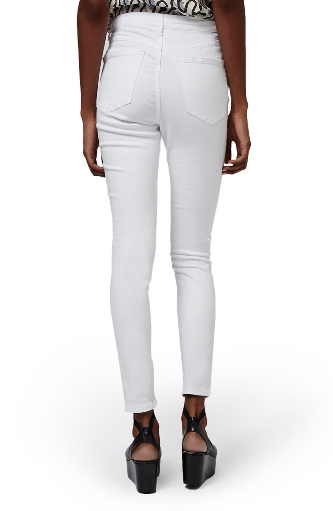 Alternate Image 2  - Topshop 'Jamie' Ripped High Rise Ankle Skinny Jeans