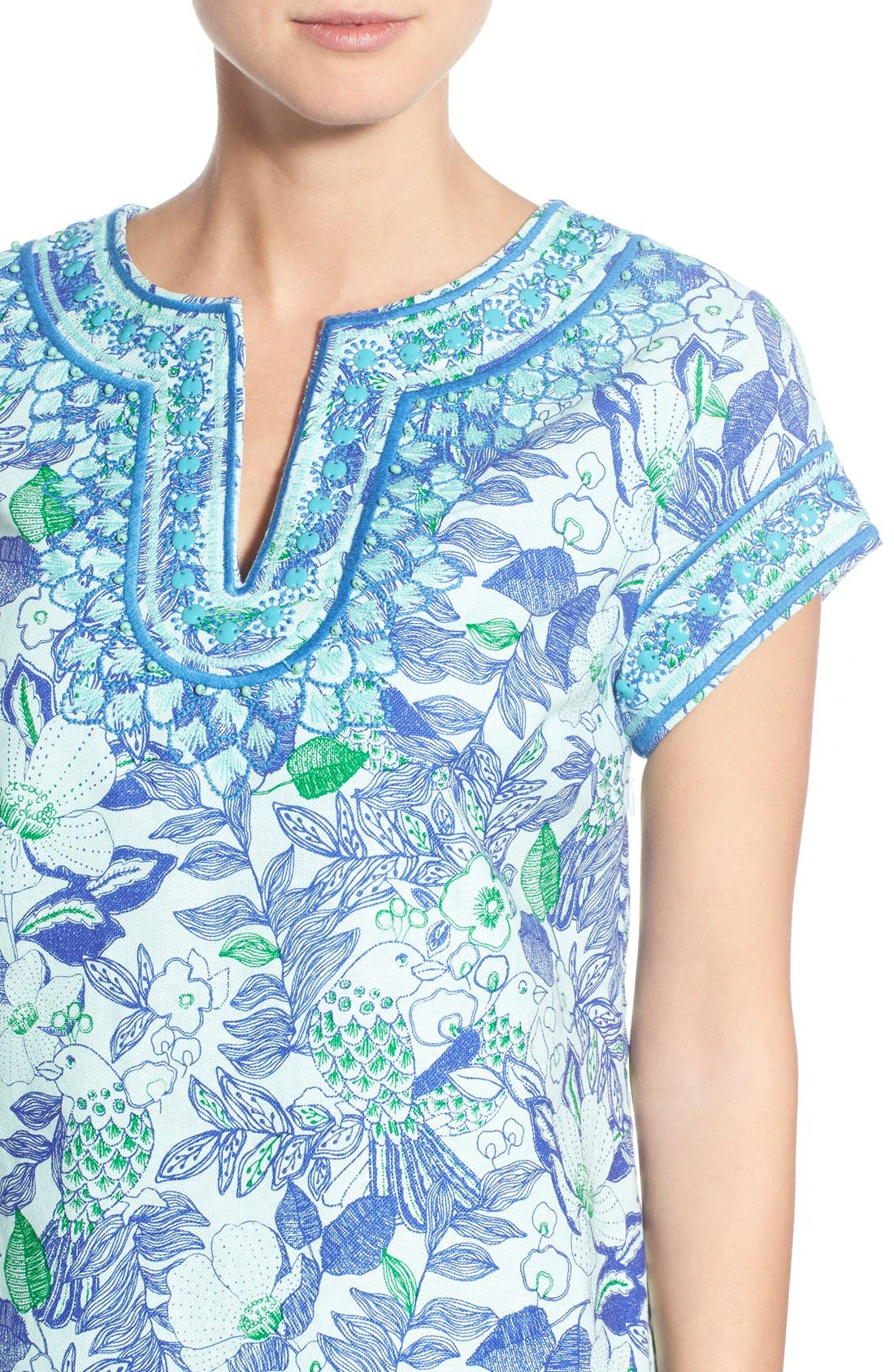 Alternate Image 4  - Vineyard Vines 'Cordia' Floral Print Tunic Dress