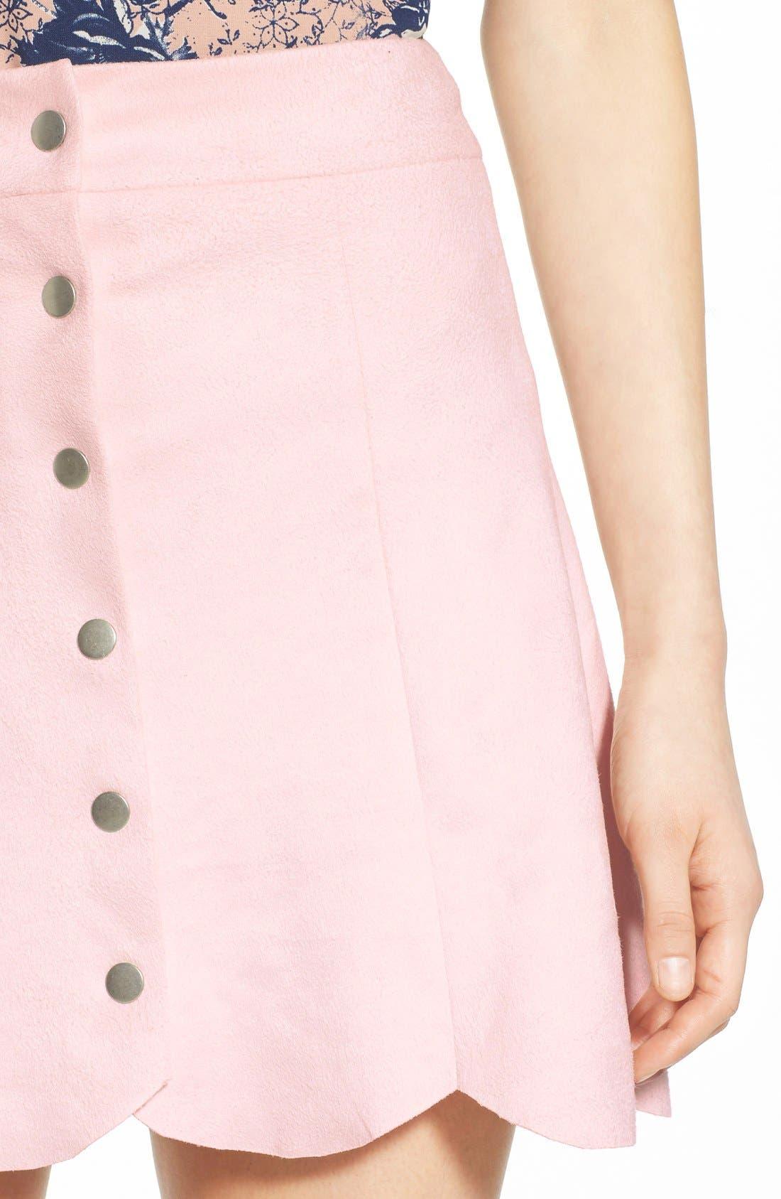 Alternate Image 4  - Lovers + Friends 'Blue Moon' Faux Suede Skirt