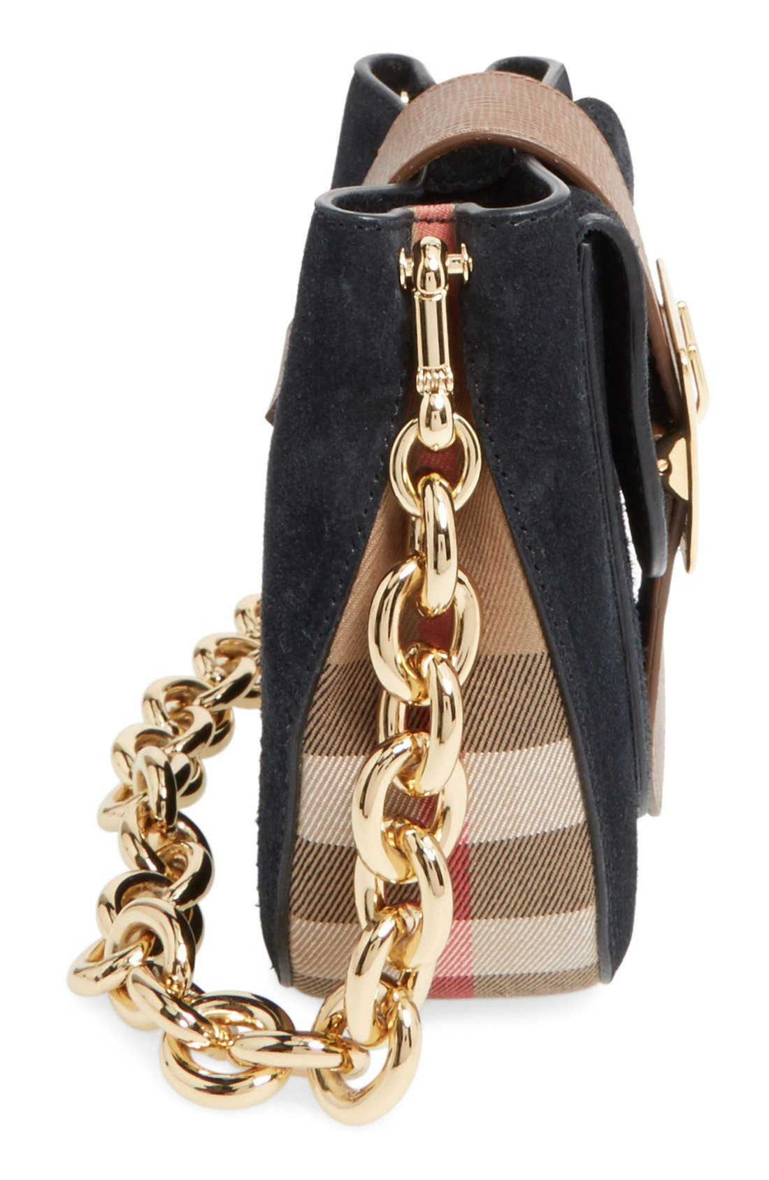 Alternate Image 5  - Burberry Suede & Canvas Convertible Crossbody Bag