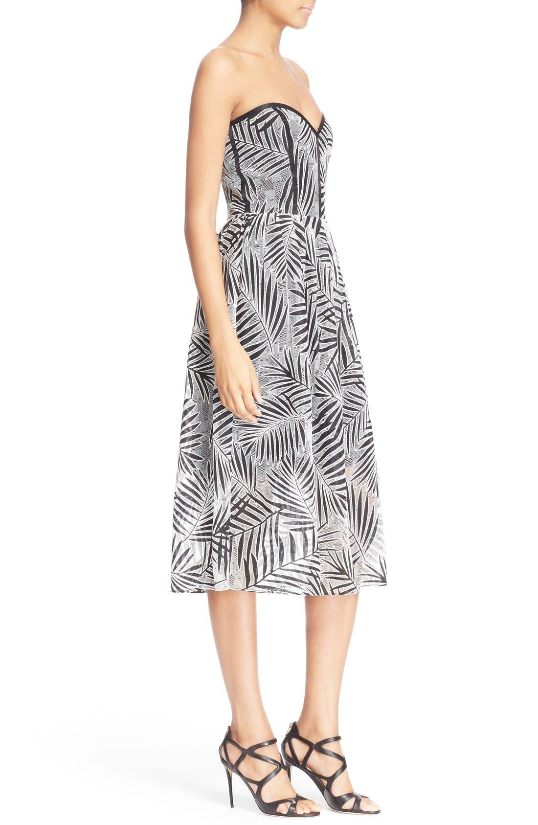 Alternate Image 3  - Parker 'Azalea' Palm Lace Midi Length Dress