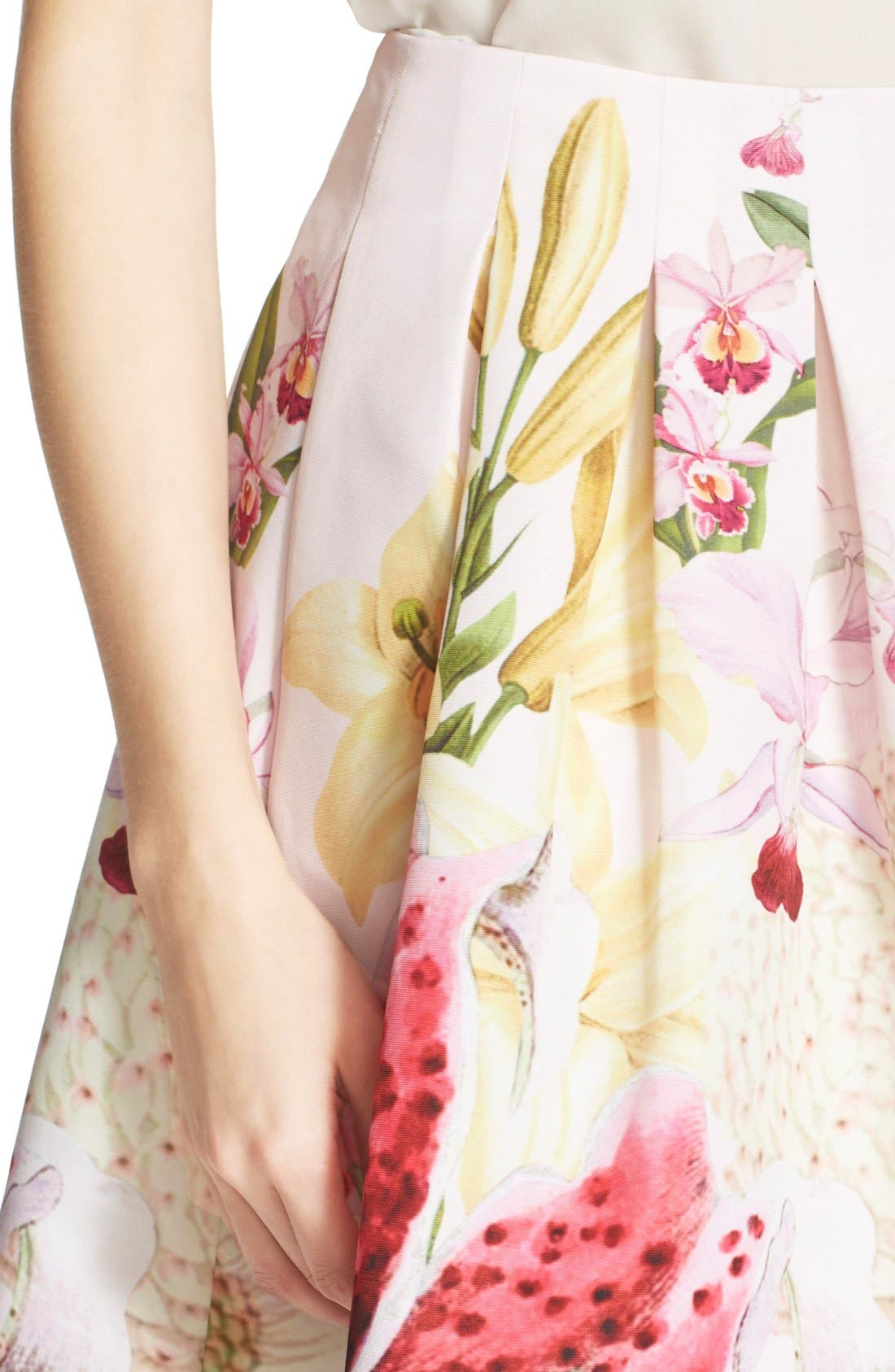 Alternate Image 4  - Ted Baker London 'Rowahn' Floral Print Full Skirt