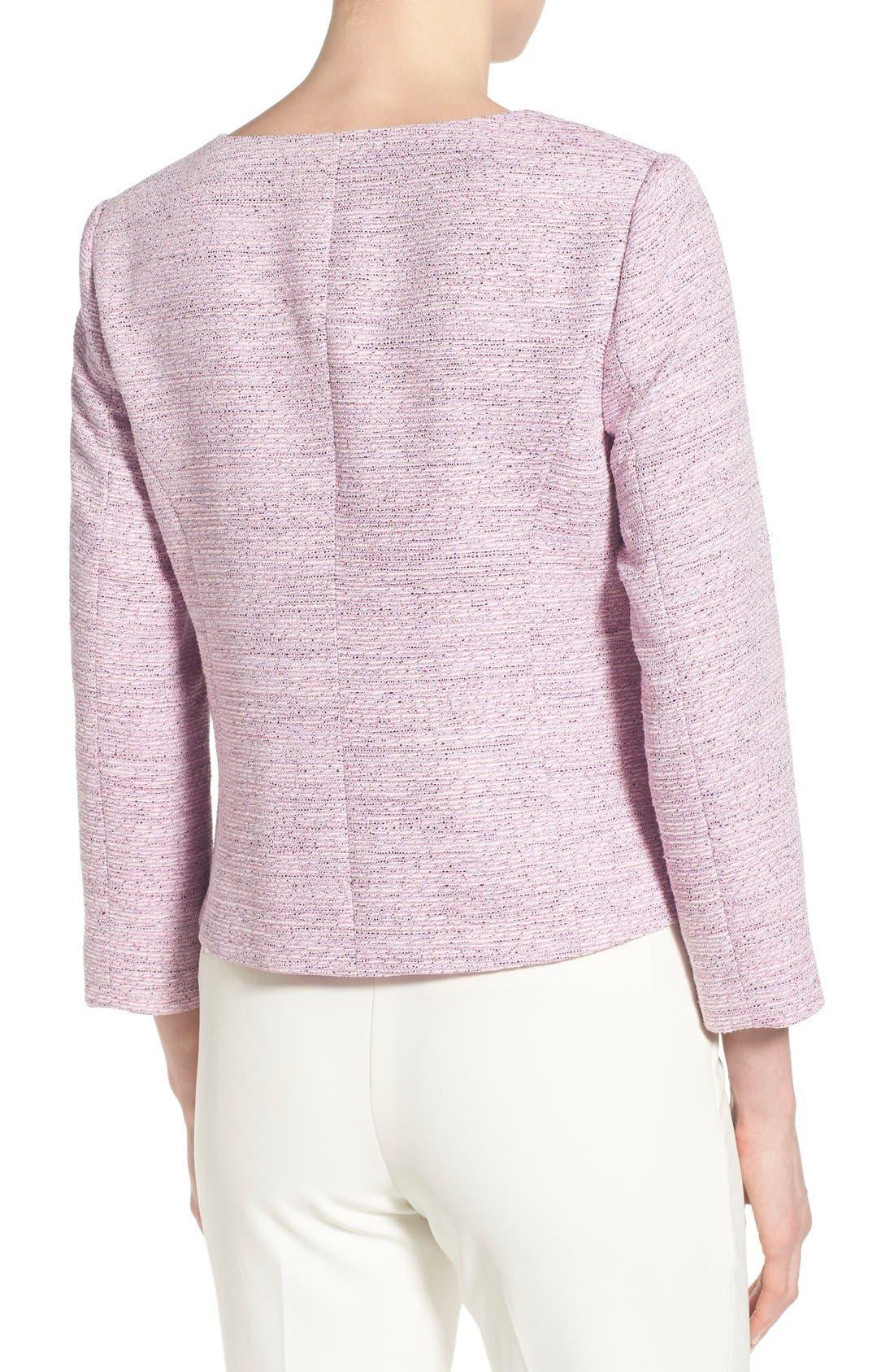 Alternate Image 2  - CeCe by Cynthia Steffe Four-Pocket Collarless Tweed Jacket