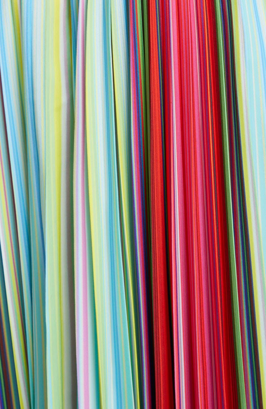 Alternate Image 3  - Mary Katrantzou Pleated Rainbow Stripe Midi Skirt