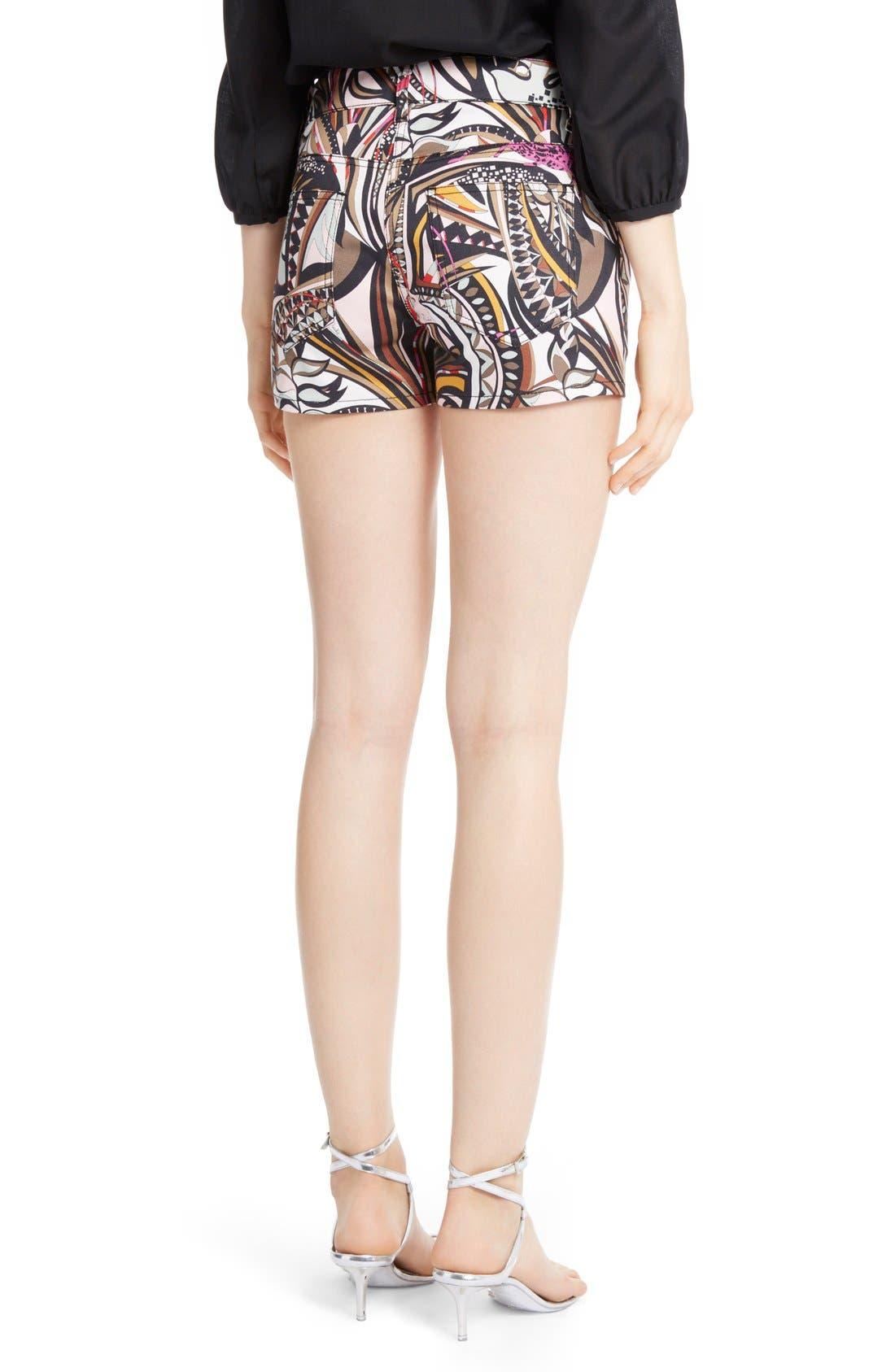 Alternate Image 2  - Emilio Pucci Print Stretch Cotton Shorts