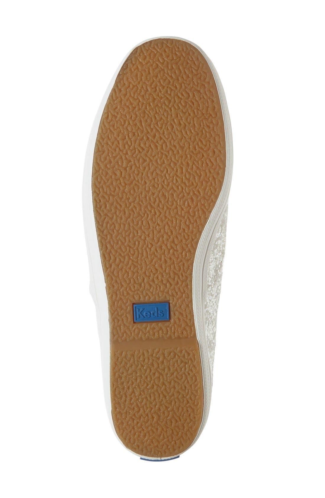 Alternate Image 4  - Keds® for kate spade new york glitter sneaker (Women)