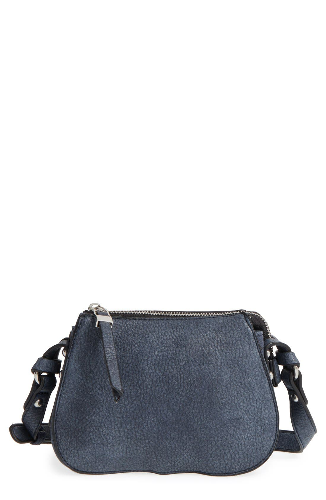 Alternate Image 1 Selected - Phase 3 Faux Leather Crossbody Bag