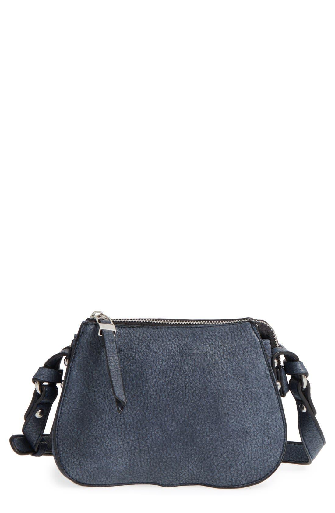 Main Image - Phase 3 Faux Leather Crossbody Bag