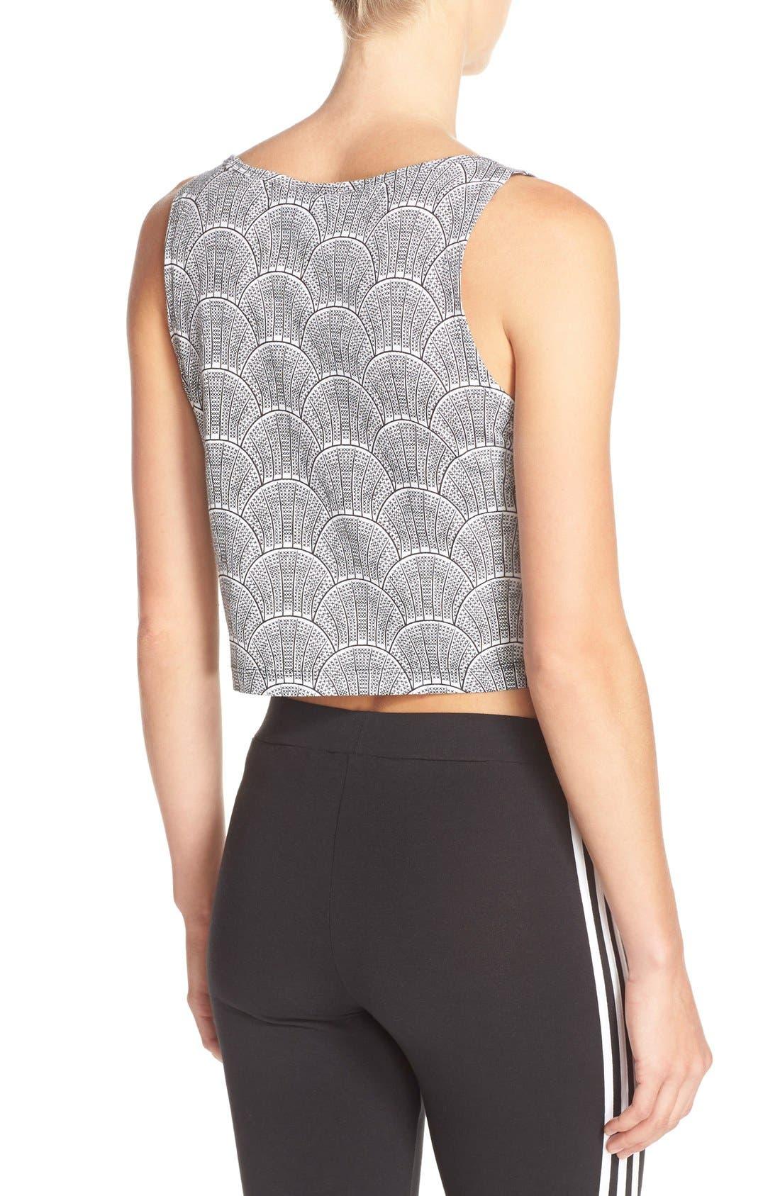 Alternate Image 2  - adidas Originals 'Shell Tile' Crop Tank