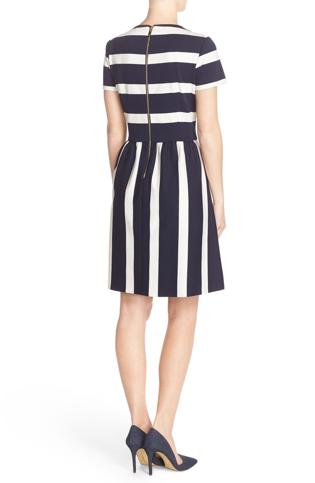 Alternate Image 2  - Eliza J Stripe Knit Fit & Flare Dress (Regular & Petite)