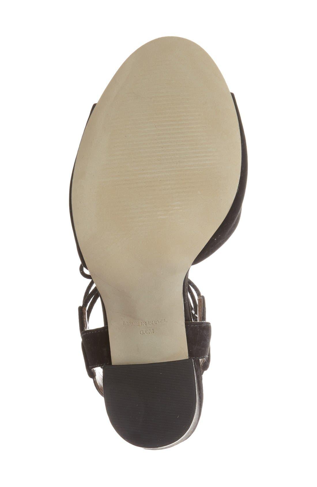 Alternate Image 4  - Steve Madden 'Serrina' Block Heel Lace Up Sandal (Women)