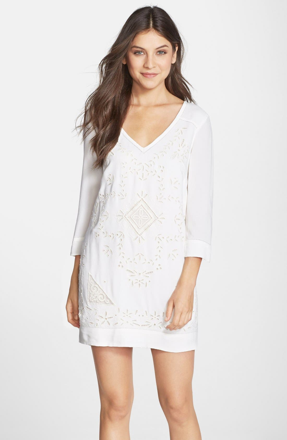 Main Image - French Connection 'Camber Sands' Eyelet Shift Dress