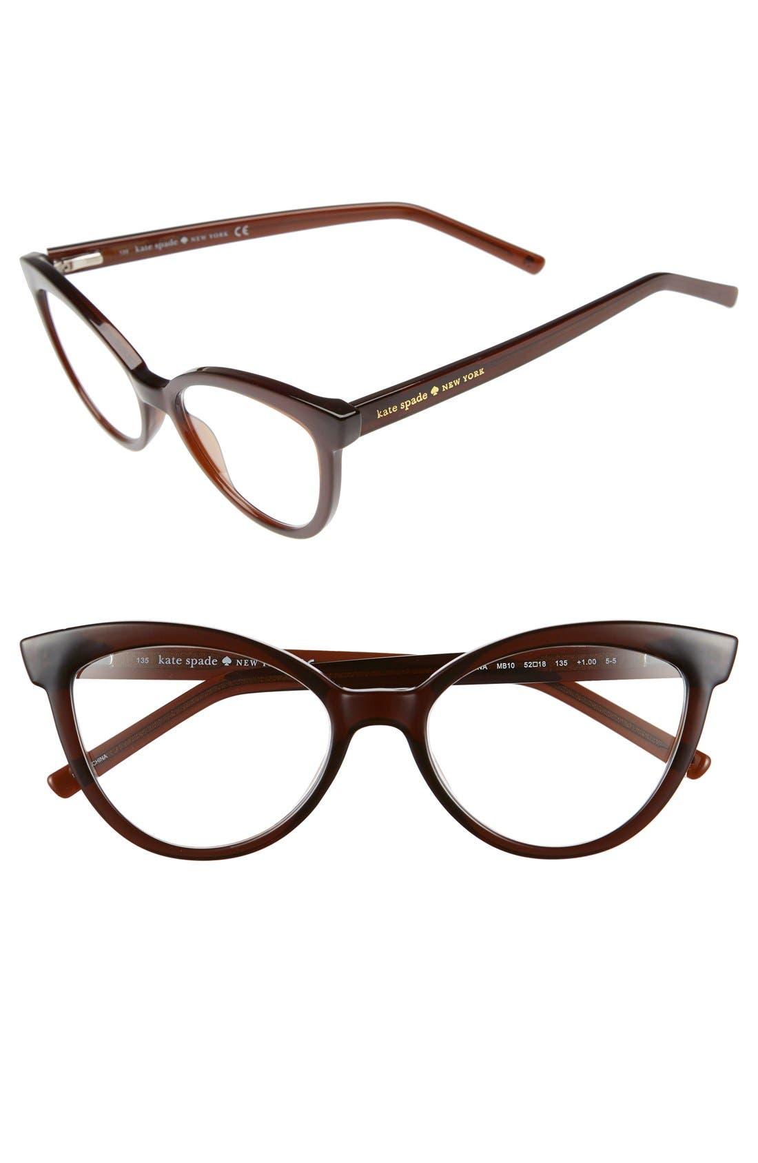 Alternate Image 1 Selected - kate spade new york 'danna' 52mm cat eye reading glasses