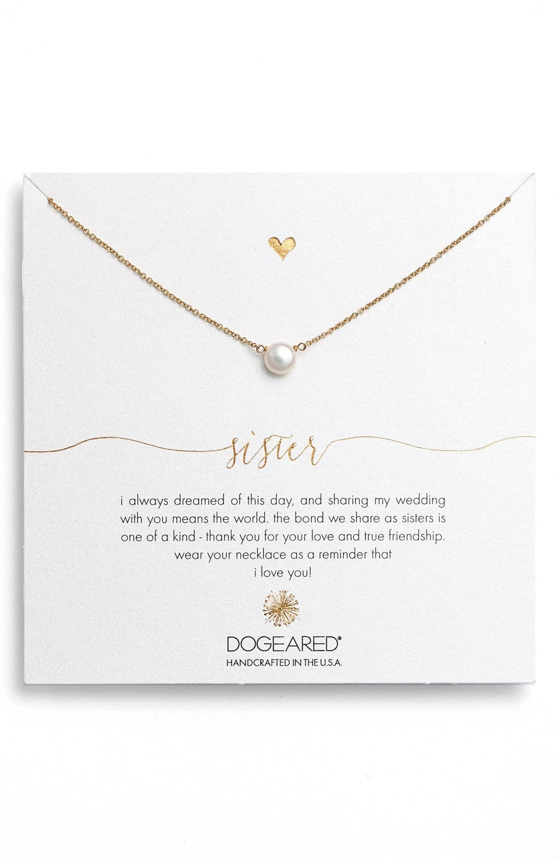 Main Image - Dogeared Pearl Pendant Necklace