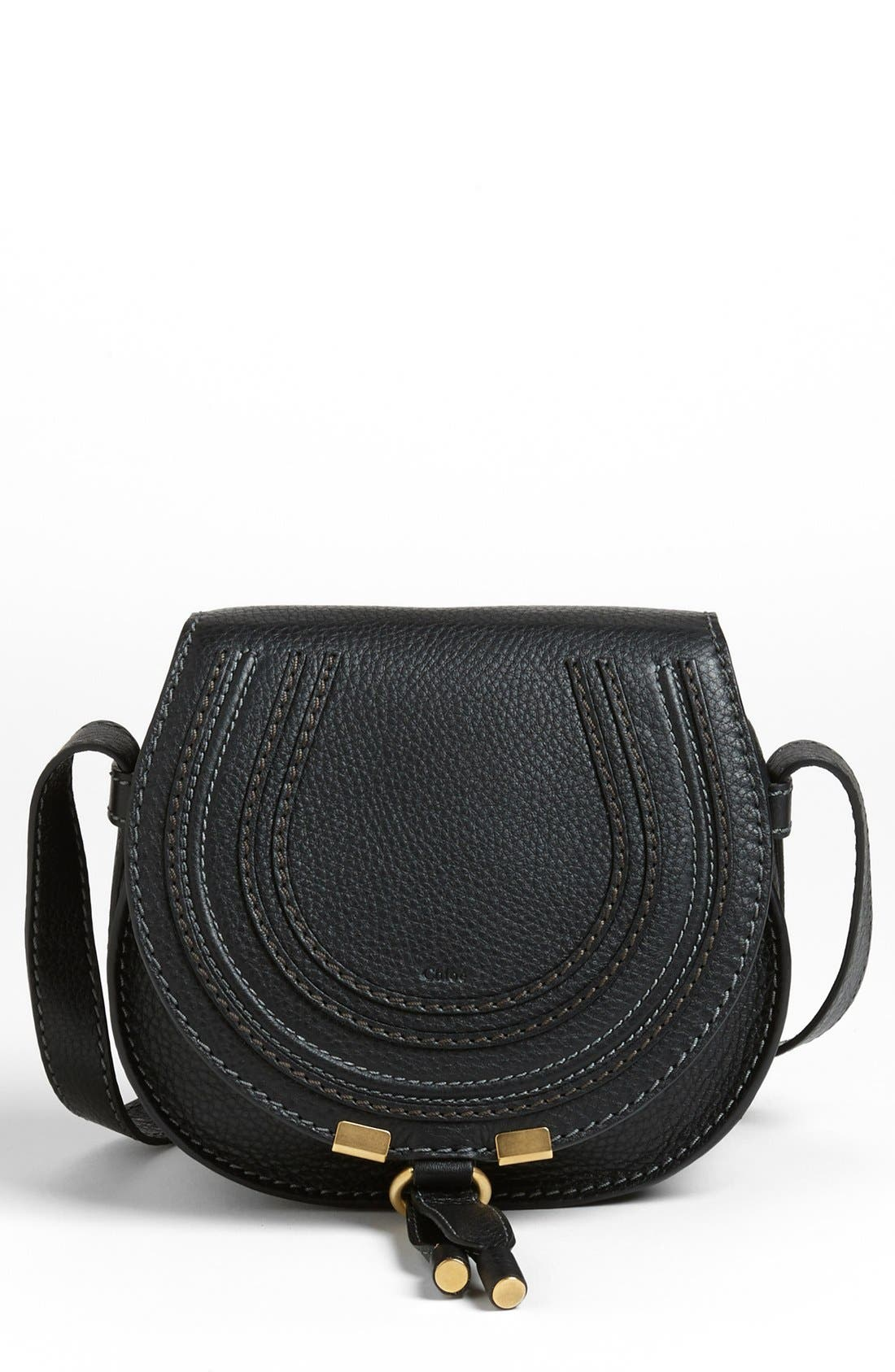 Alternate Image 1 Selected - Chloé 'Mini Marcie' Leather Crossbody Bag