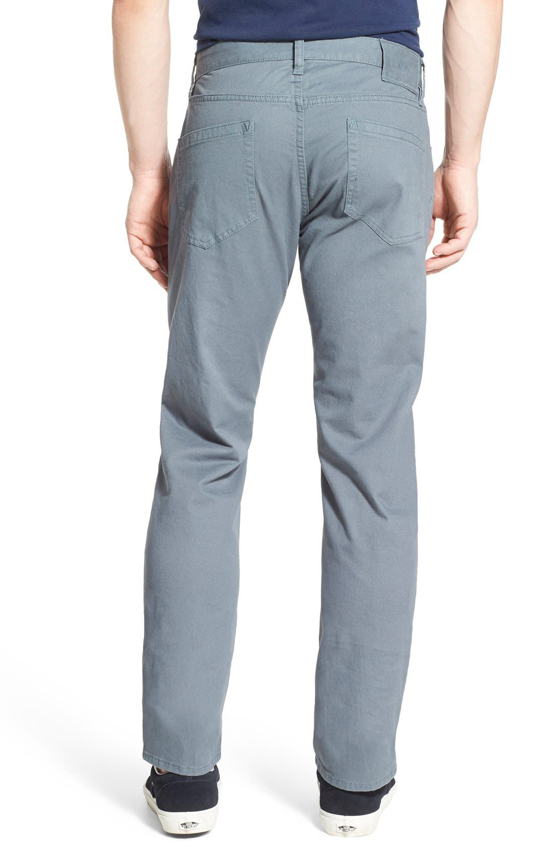 Alternate Image 2  - RVCA 'Stay RVCA' Slim Straight Pants (Online Only)
