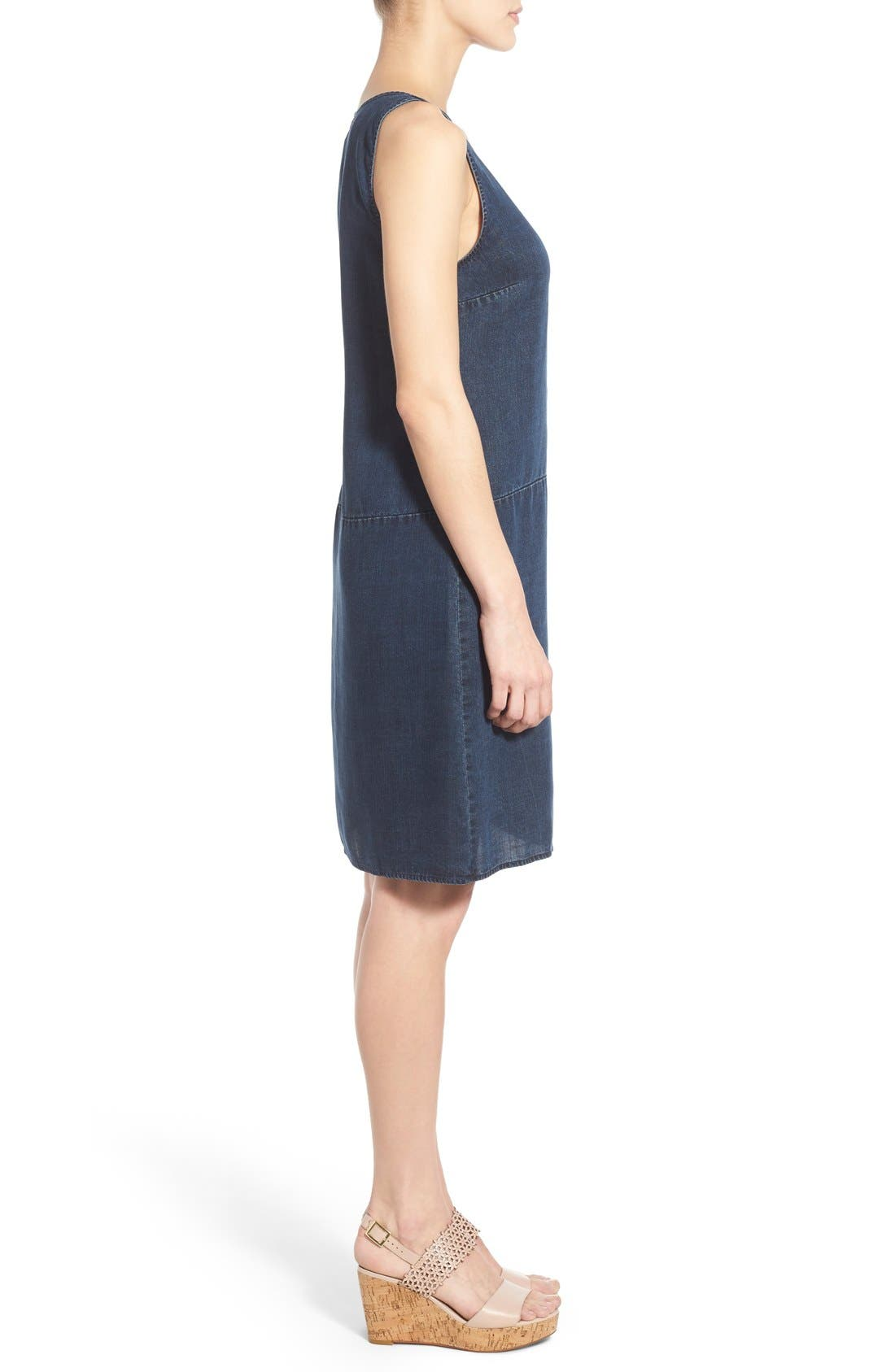 Alternate Image 3  - NIC+ZOE A-Line Denim Shift Dress (Regular & Petite)