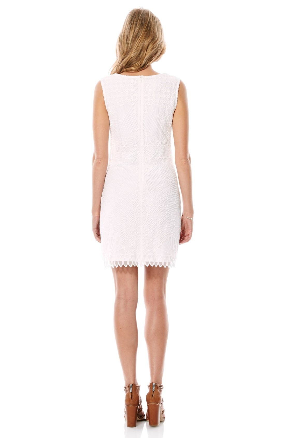 Alternate Image 2  - Laundry by Shelli Segal Embroidered Sheath Dress