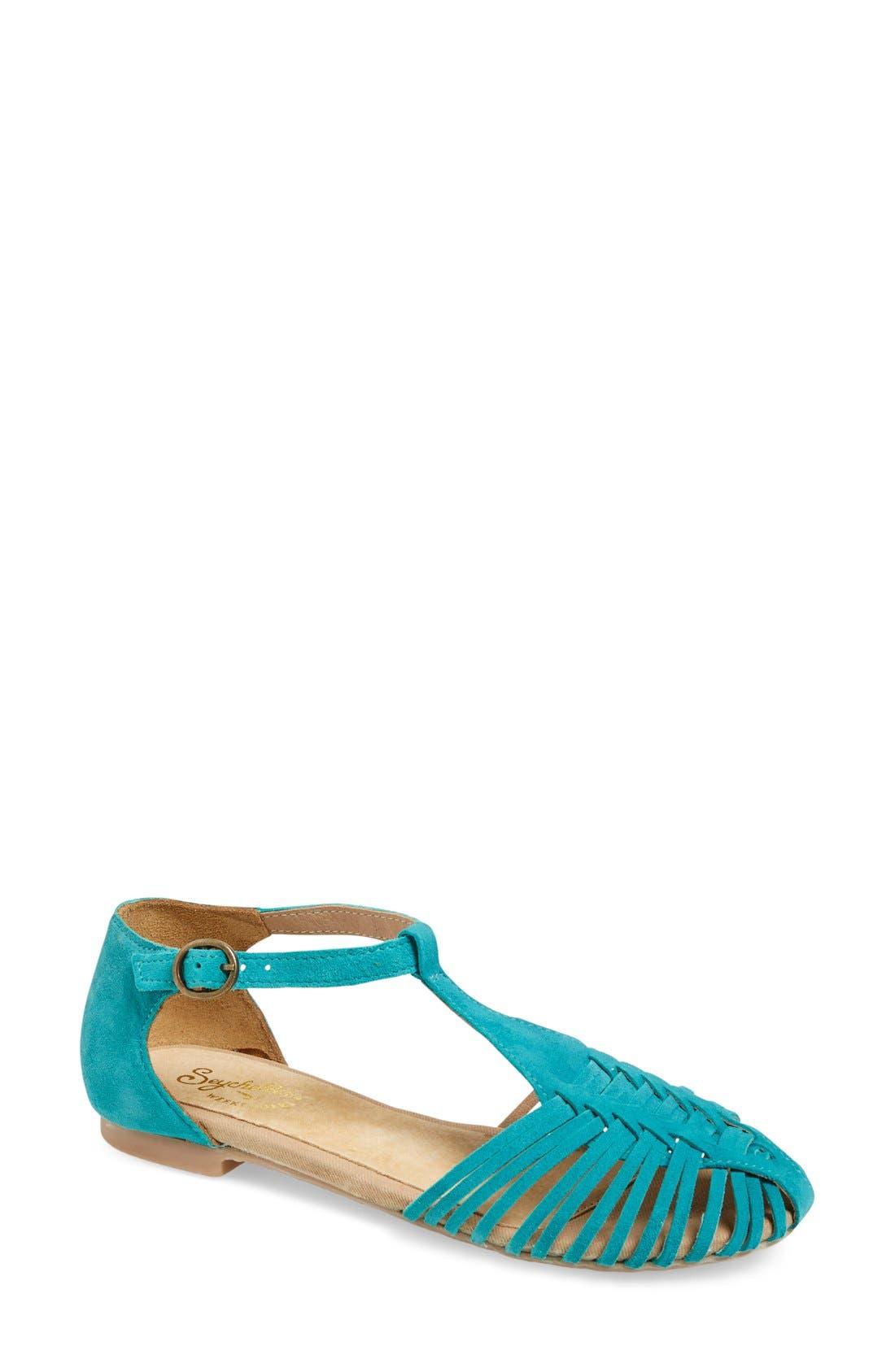 Alternate Image 1 Selected - Seychelles 'Into Thin Air' Leather Huarache Flat Sandal (Women)