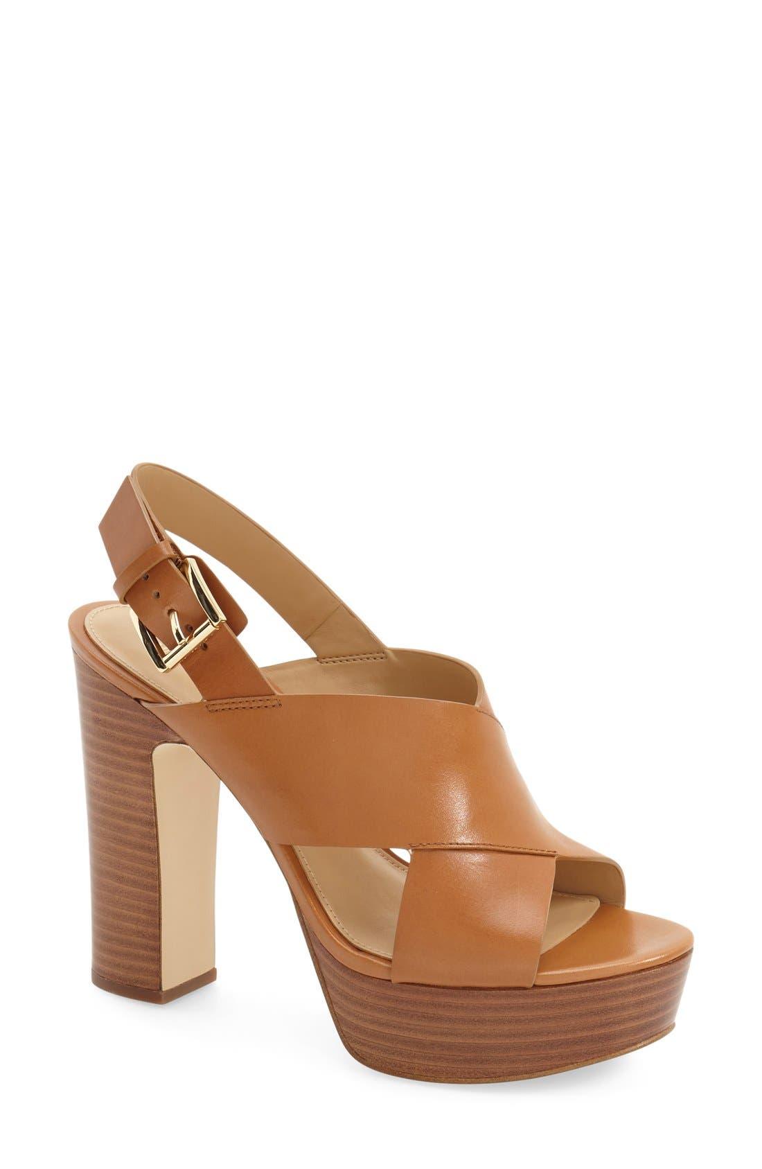 Main Image - MICHAEL Michael Kors 'Marina' Slingback Platform Sandal (Women)