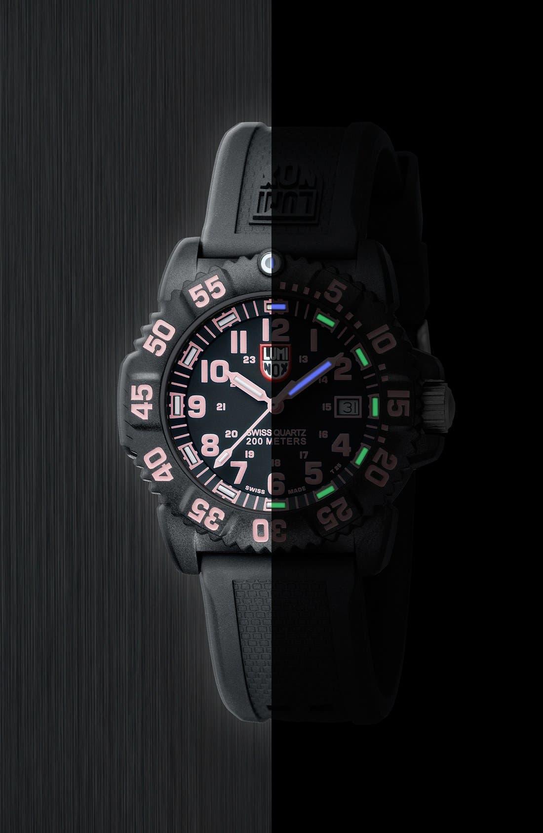 Alternate Image 4  - Luminox 'Sea - Navy SEAL Colormark' Silicone Strap Watch, 38mm