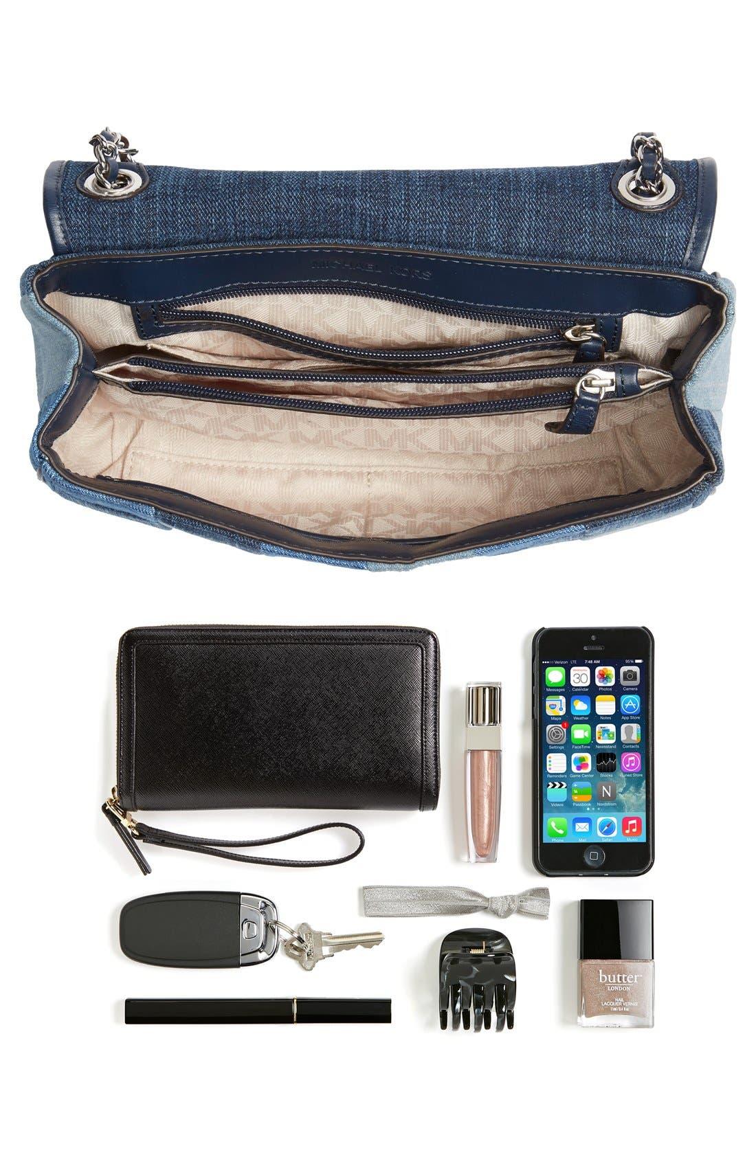 Alternate Image 7  - MICHAEL Michael Kors 'Large Sloan' Patchwork Denim Shoulder Bag