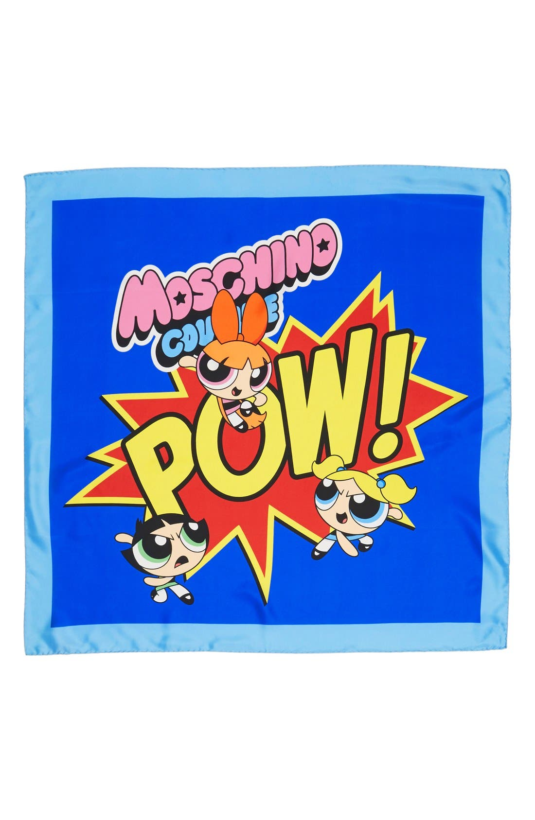 Alternate Image 2  - Moschino 'The Powerpuff Girls® - Pow!' Square Silk Scarf