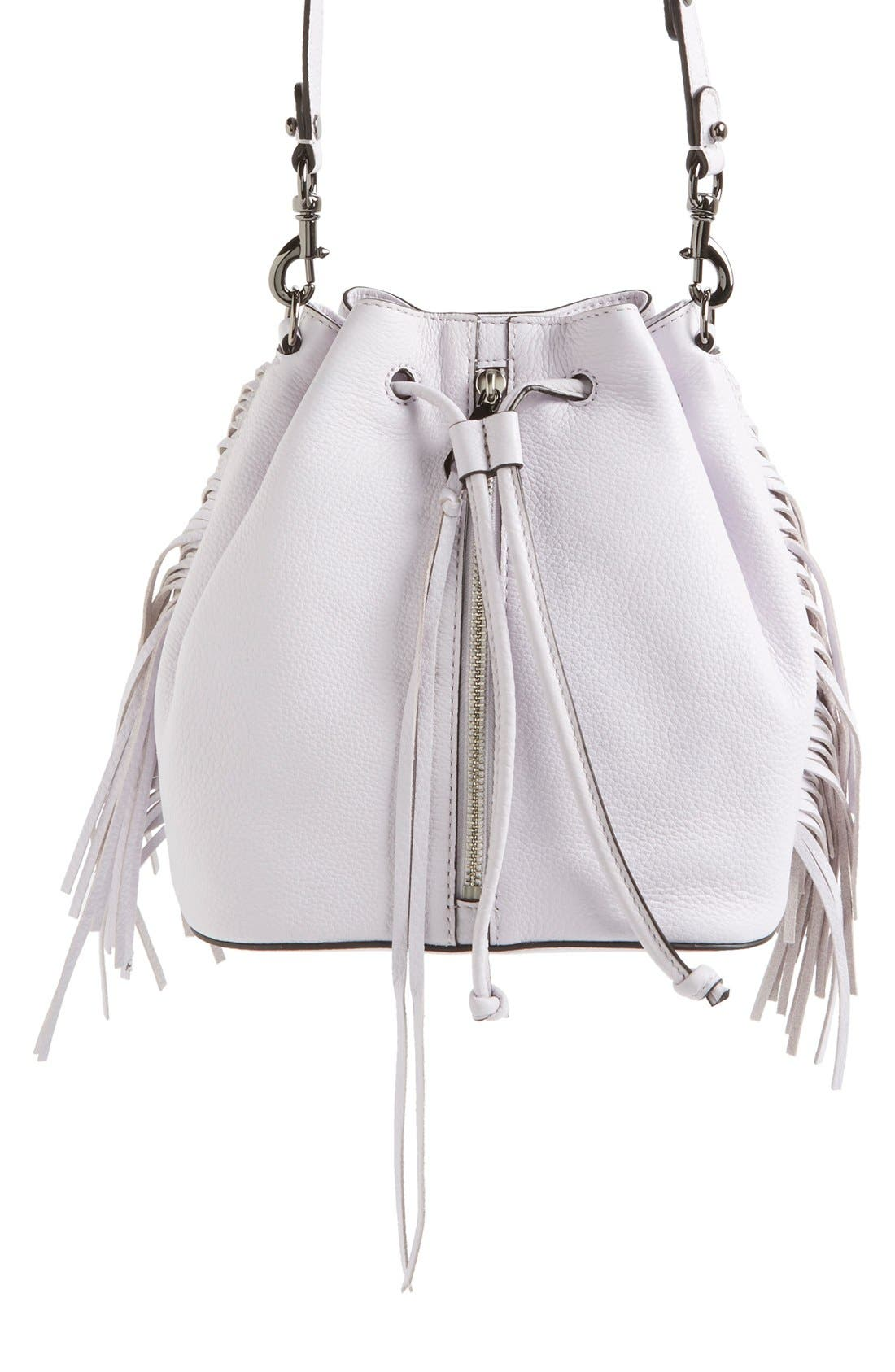 Main Image - Rebecca Minkoff 'Mini Fringe Moto' Bucket Bag (Nordstrom Exclusive)
