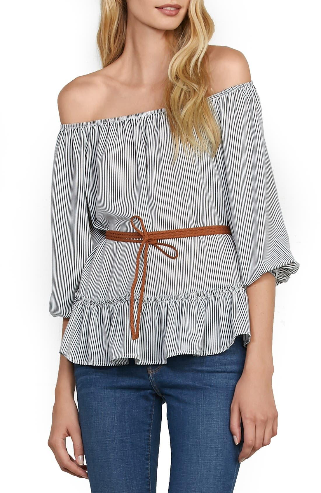 Main Image - Bailey 44 'Christine' Off the Shoulder Stripe Top