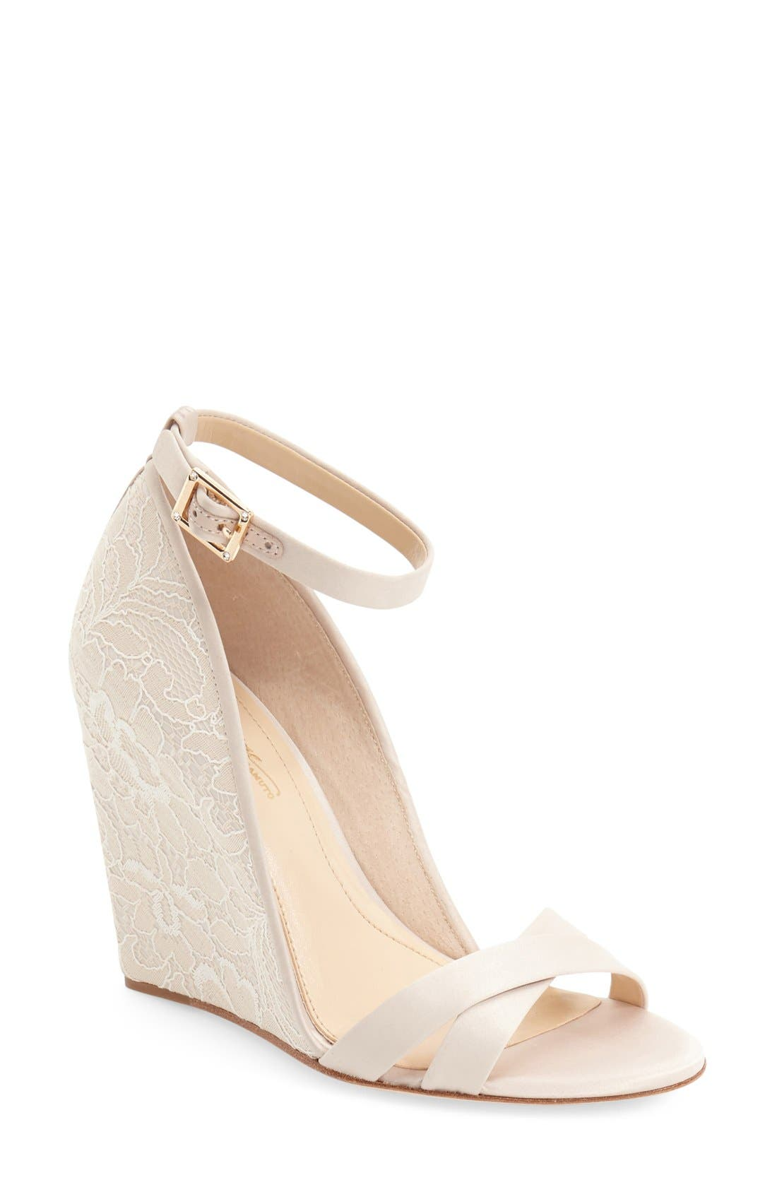 Imagine Vince Camuto 'Imagine - Lilo' Lace Wedge Sandal (Women)