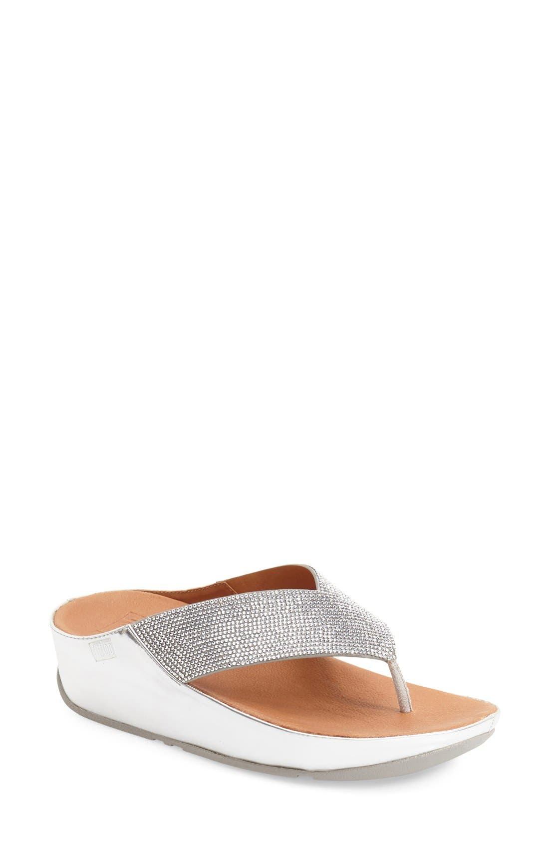 FITFLOP 'Crystall' Crystal Embellished Platform Sandal