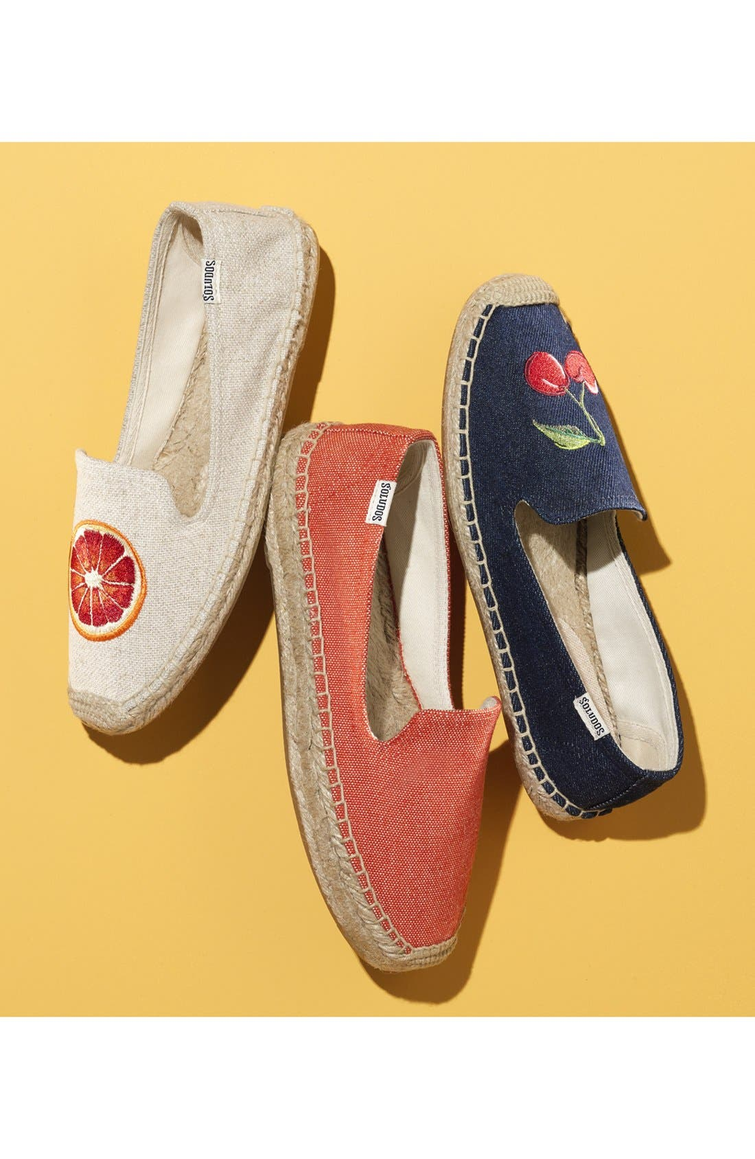 Alternate Image 6  - Soludos 'Cherries' Embroidered Espadrille Slip-On (Women)