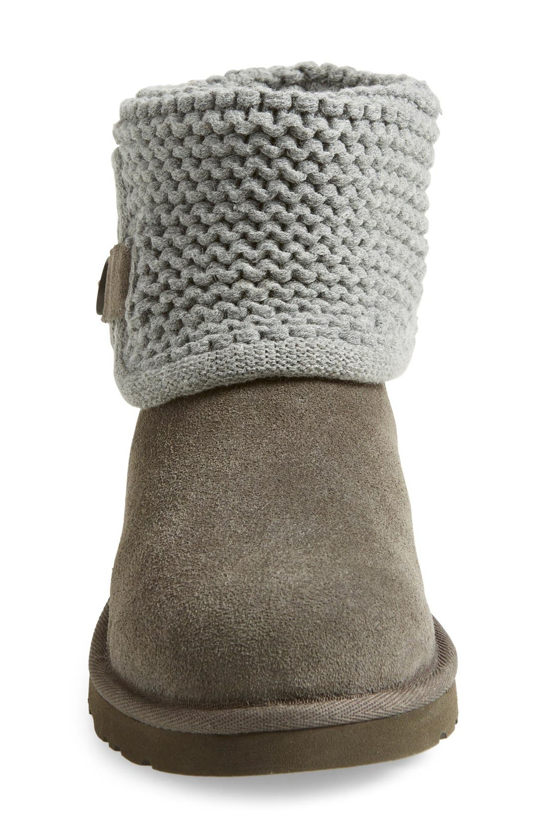 Alternate Image 3  - UGG® Darrah Purl Knit Cuff Boot (Little Kid & Big Kid)