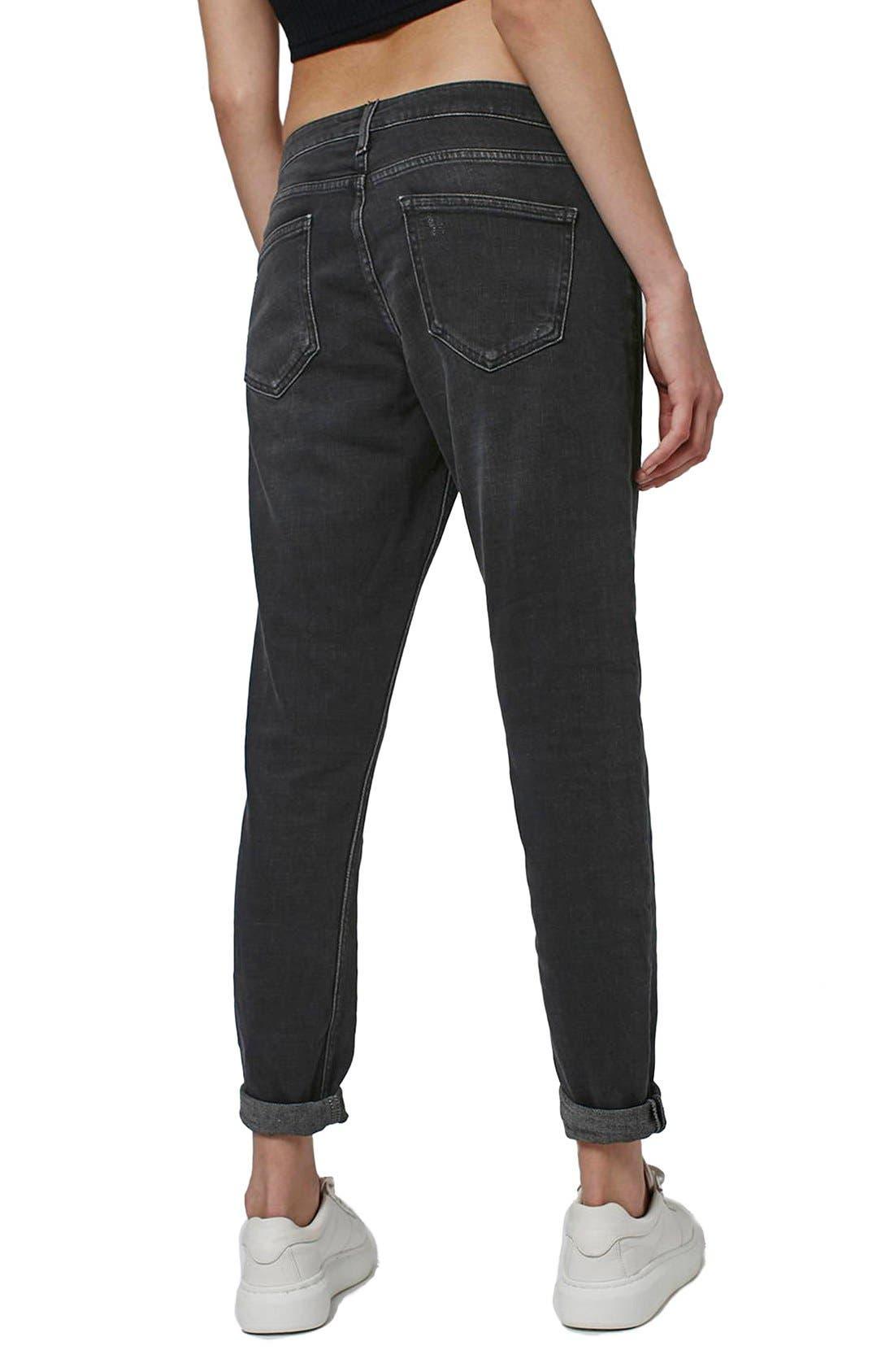 Alternate Image 3  - Topshop Moto 'Lucas' Slim Boyfriend Jeans