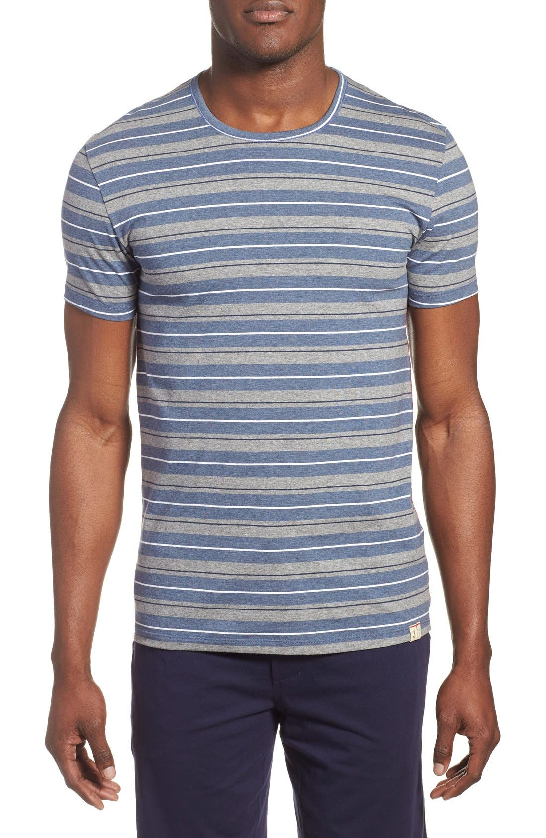 Alternate Image 1 Selected - Paul Smith Stripe Stretch Cotton T-Shirt