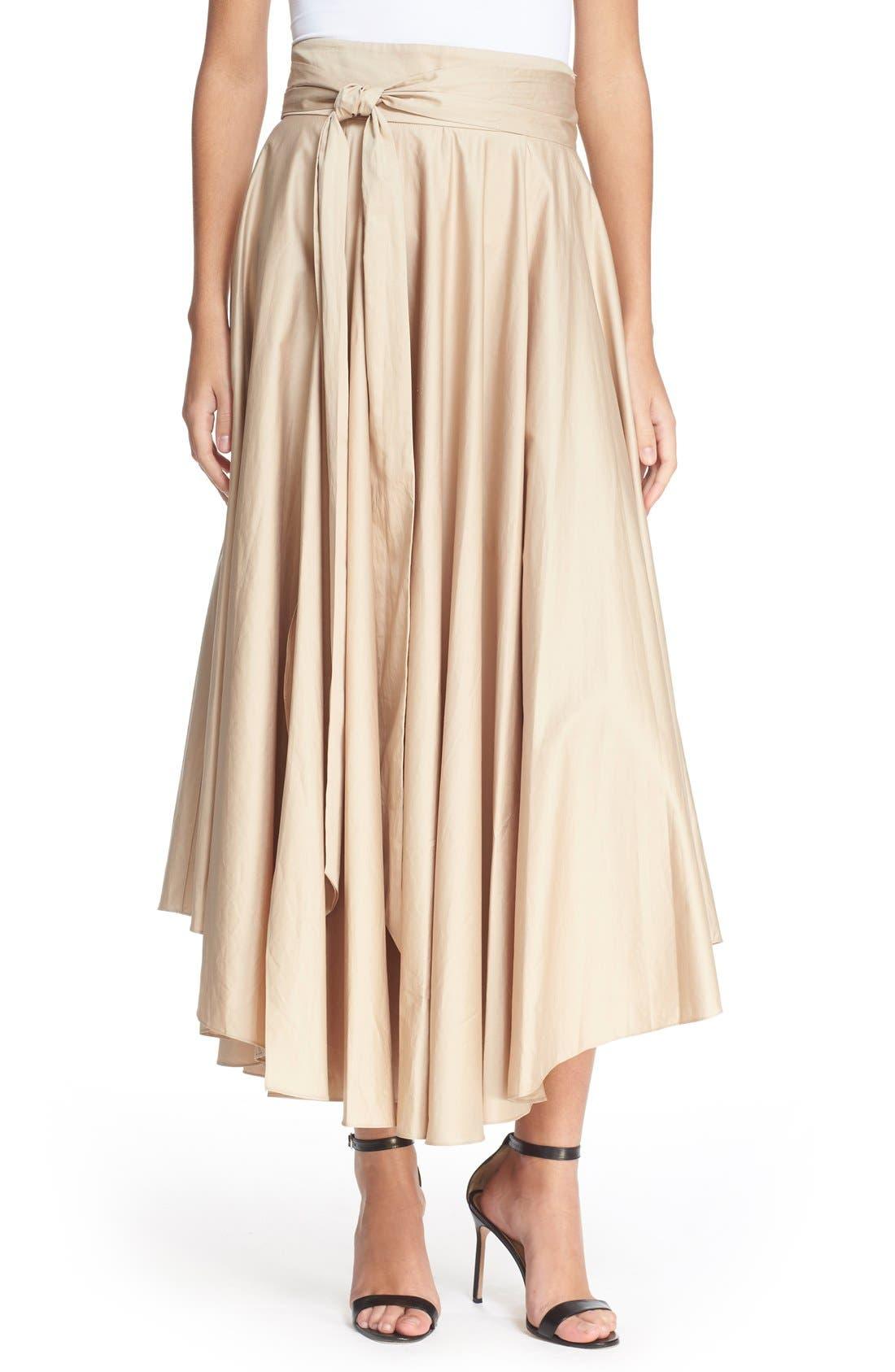 Alternate Image 1 Selected - Tibi Belted Cotton Maxi Skirt