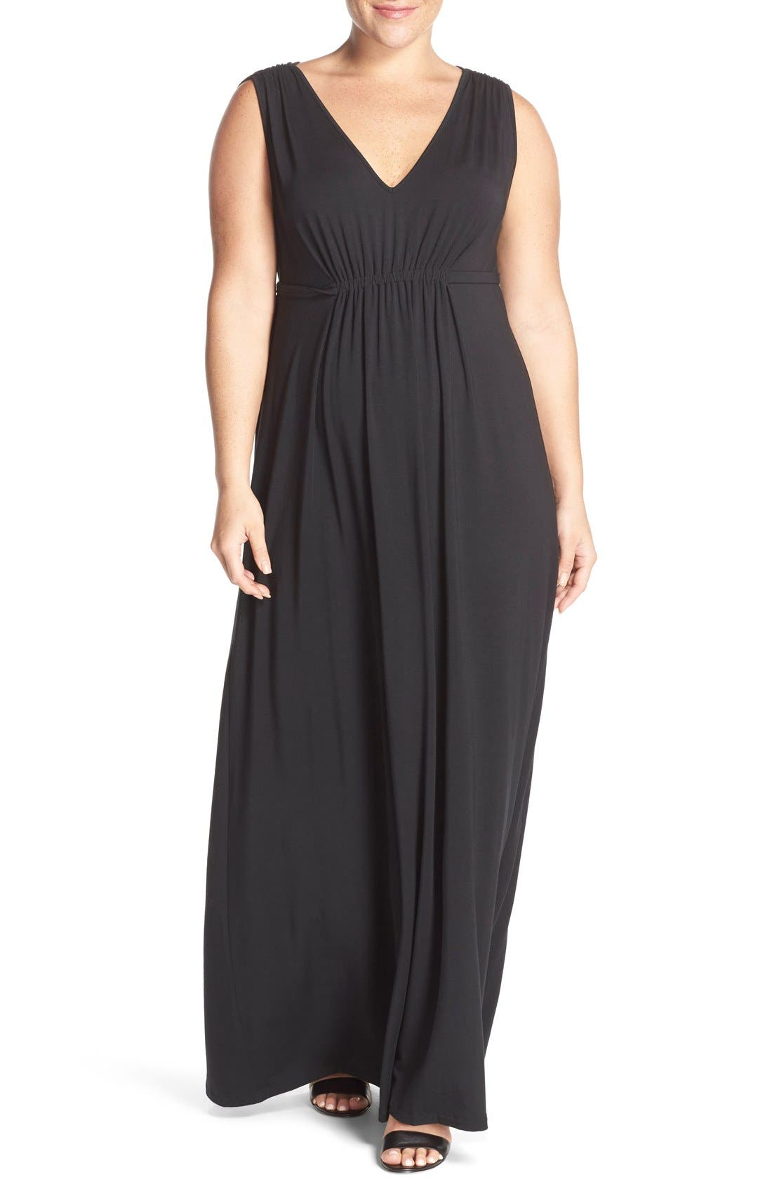 Tart Grecia Sleeveless Jersey Maxi Dress (Plus Size)