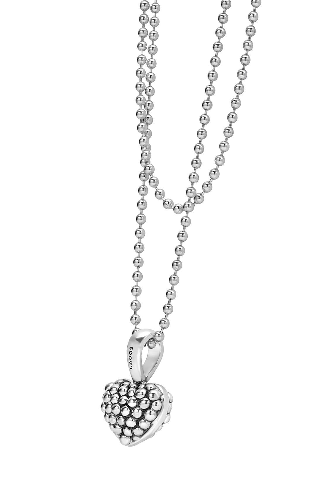 Alternate Image 3  - LAGOS Sterling Silver Heart Long Strand Pendant Necklace