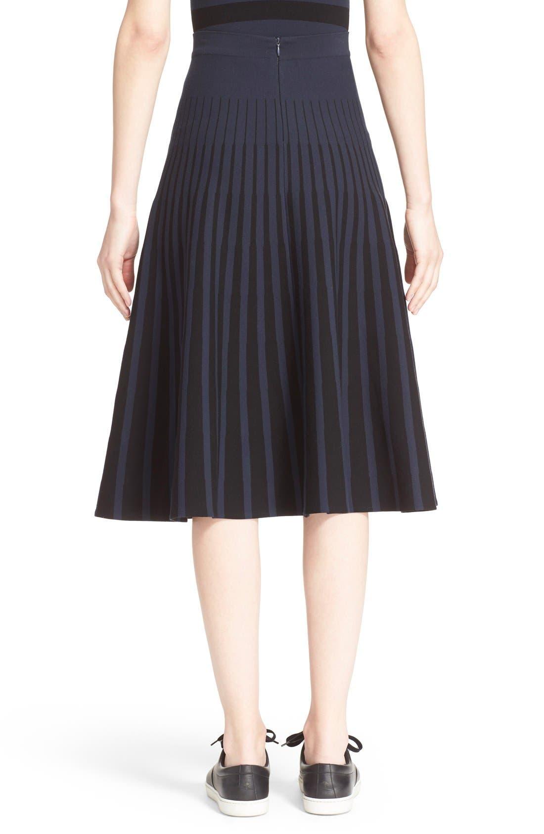Alternate Image 2  - Tomas Maier Stripe Knit Flared Skirt
