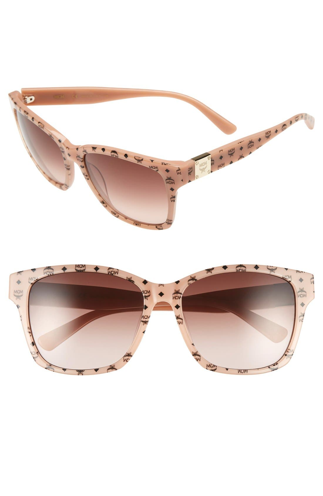 MCM 'Visetos' 59mm Retro Sunglasses