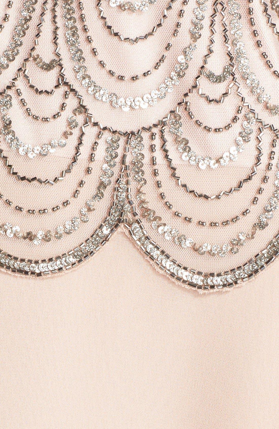 Alternate Image 6  - J Kara Scallop Embellished Popover Gown