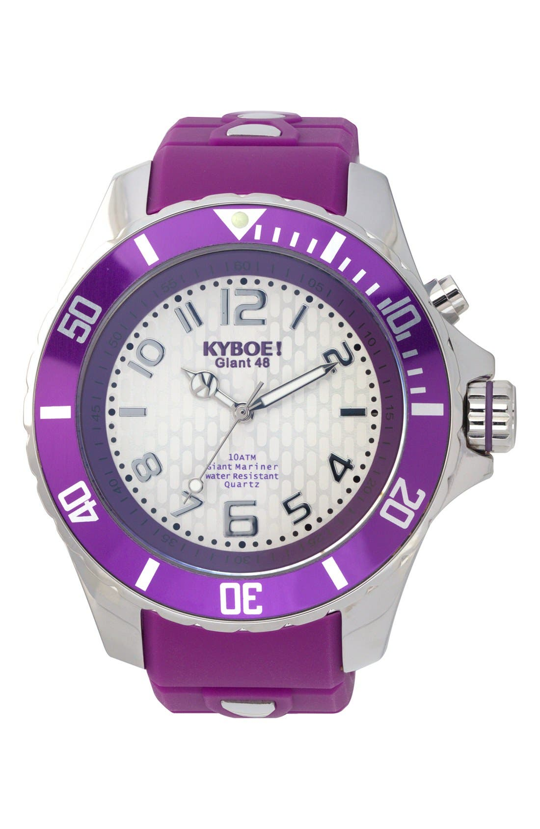 KYBOE! 'Power' Silicone Strap Watch, 48mm