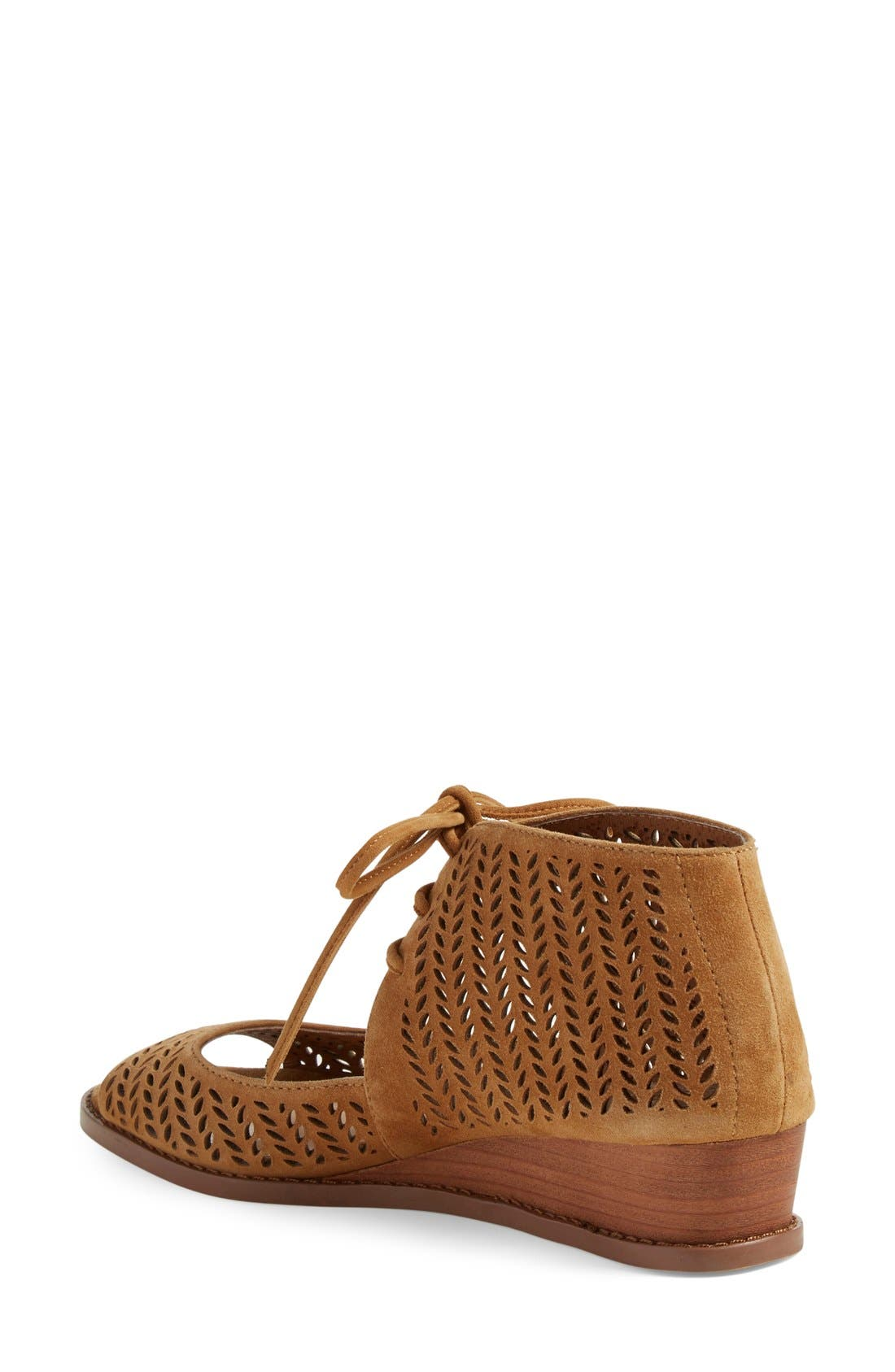 Alternate Image 2  - Vince Camuto 'Remme' Cutout Lace-Up Wedge Sandal (Women) (Nordstrom Exclusive)
